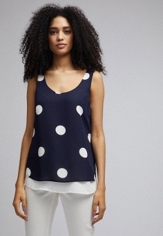 Топ, Dorothy Perkins, цвет: синий. Артикул: DO005EWJCST3. Одежда