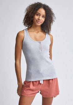 Пижама, Dorothy Perkins, цвет: розовый, серый. Артикул: DO005EWJEPQ1. Одежда / Домашняя одежда / Пижамы