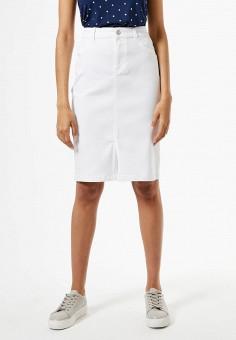 Юбка джинсовая, Dorothy Perkins, цвет: белый. Артикул: DO005EWJGIM6. Одежда / Юбки