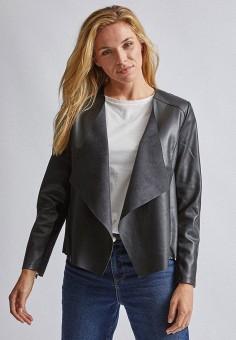 Куртка кожаная, Dorothy Perkins, цвет: черный. Артикул: DO005EWJGIO0.