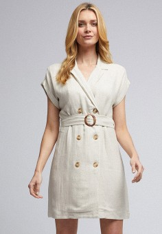 Платье, Dorothy Perkins, цвет: бежевый. Артикул: DO005EWJGNQ5.