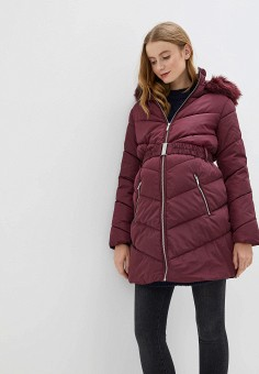 Куртка утепленная, Dorothy Perkins Maternity, цвет: бордовый. Артикул: DO028EWHBMR2. Одежда / Одежда для беременных