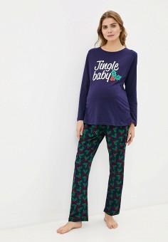 Пижама, Dorothy Perkins Maternity, цвет: синий. Артикул: DO028EWHOEW8. Одежда / Одежда для беременных