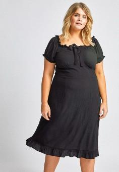 Платье, Dorothy Perkins Curve, цвет: черный. Артикул: DO029EWIYIM3. Одежда / Платья и сарафаны / Повседневные платья
