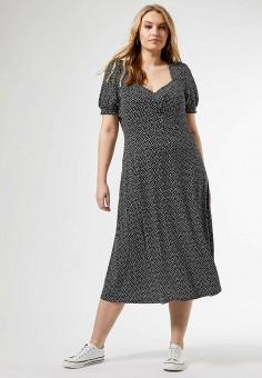Платье, Dorothy Perkins Curve, цвет: серый. Артикул: DO029EWJEPO5. Одежда / Платья и сарафаны