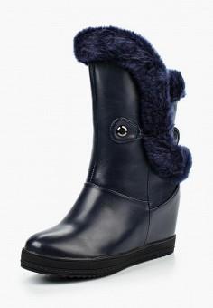 Полусапоги, Donna Moda, цвет: синий. Артикул: DO030AWNTR35. Обувь / Сапоги / Полусапоги