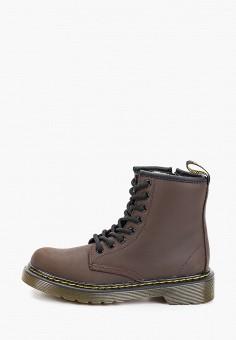 Ботинки, Dr. Martens, цвет: коричневый. Артикул: DR004AKFPZW1. Мальчикам / Обувь / Ботинки