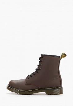 Ботинки, Dr. Martens, цвет: коричневый. Артикул: DR004AKFPZW2. Мальчикам / Обувь / Ботинки