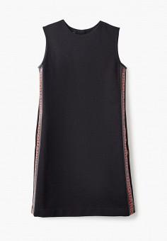 Платье, Dsquared2, цвет: черный. Артикул: DS007EGIWQS5. Девочкам / Одежда / Платья и сарафаны