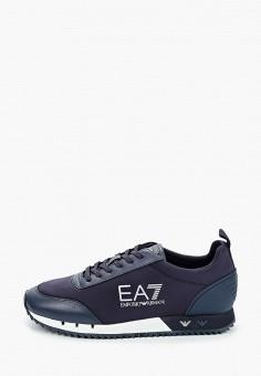 Кроссовки, EA7, цвет: синий. Артикул: EA002AKJHWT8. Девочкам / Спорт