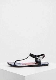 Сандалии, EA7, цвет: черный. Артикул: EA002AWHKYE5. Обувь / Резиновая обувь