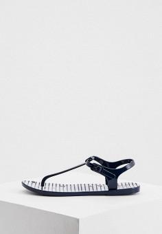 Сандалии, EA7, цвет: синий. Артикул: EA002AWHKYF6. Обувь / Резиновая обувь