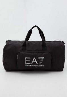 Сумка спортивная, EA7, цвет: черный. Артикул: EA002BUJPG56. Аксессуары / Сумки