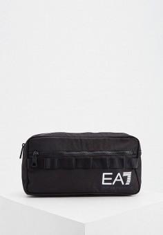 Сумка поясная, EA7, цвет: черный. Артикул: EA002BUJUSJ5. Аксессуары / Сумки