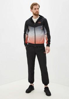 Костюм спортивный, EA7, цвет: черный. Артикул: EA002EMHKYM4. Одежда / Спортивные костюмы