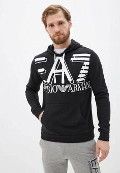 Худи, EA7, цвет: черный. Артикул: EA002EMHKZD5. Одежда / Толстовки и олимпийки / Худи