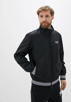 Ветровка, EA7, цвет: черный. Артикул: EA002EMHLEA9. Одежда / Верхняя одежда / Легкие куртки и ветровки