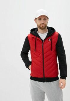 Жилет утепленный, EA7, цвет: красный. Артикул: EA002EMHLEC5. Одежда / Верхняя одежда