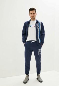 Костюм спортивный, EA7, цвет: синий. Артикул: EA002EMHLED9. Одежда