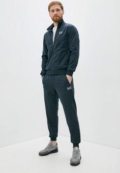 Костюм спортивный, EA7, цвет: синий. Артикул: EA002EMHLEE7. Одежда / Спортивные костюмы