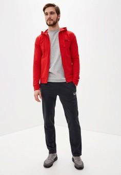 Костюм спортивный, EA7, цвет: красный, серый. Артикул: EA002EMHLEF1. Одежда / Спортивные костюмы