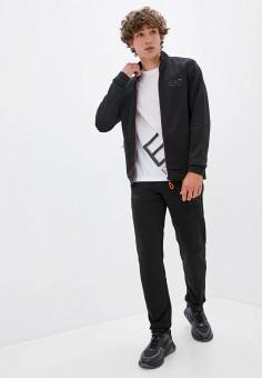 Костюм спортивный, EA7, цвет: черный. Артикул: EA002EMJUUT0. Одежда / Спортивные костюмы