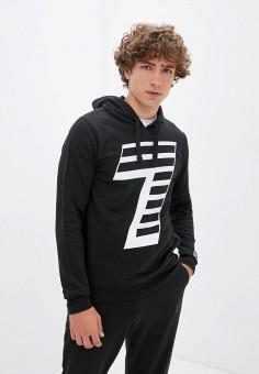 Худи, EA7, цвет: черный. Артикул: EA002EMJUUY7. Одежда / Толстовки и олимпийки / Худи