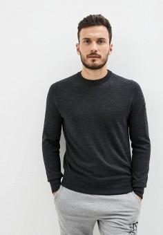 Джемпер, EA7, цвет: серый. Артикул: EA002EMJUVD7. Одежда / Джемперы, свитеры и кардиганы / Джемперы и пуловеры