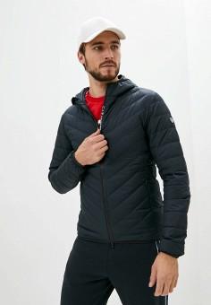 Пуховик, EA7, цвет: синий. Артикул: EA002EMJUWB8. Одежда / Верхняя одежда / Пуховики и зимние куртки