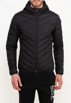 Пуховик, EA7, цвет: черный. Артикул: EA002EMUEE49. Одежда / Верхняя одежда / Пуховики и зимние куртки / Пуховики