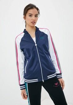Олимпийка, EA7, цвет: синий. Артикул: EA002EWHLGP6. Одежда / Толстовки и свитшоты