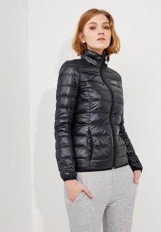 Пуховик, EA7, цвет: черный. Артикул: EA002EWJXR14. Одежда / Верхняя одежда / Пуховики и зимние куртки / Пуховики