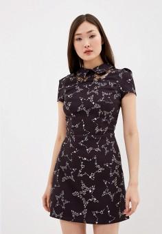 Платье, Elisabetta Franchi, цвет: черный. Артикул: EL037EWHGWD0. Одежда / Платья и сарафаны / Вечерние платья