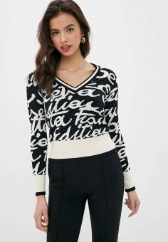 Пуловер, Elisabetta Franchi, цвет: черный. Артикул: EL037EWHPQW5. Одежда / Джемперы, свитеры и кардиганы / Джемперы и пуловеры