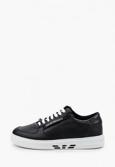 Кеды, Emporio Armani, цвет: черный. Артикул: EM598AMJBUA5. Обувь / Кроссовки и кеды