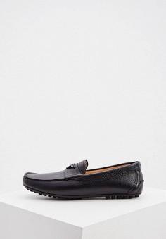 Мокасины, Emporio Armani, цвет: черный. Артикул: EM598AMJTMA1. Обувь / Мокасины и топсайдеры