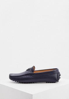 Мокасины, Emporio Armani, цвет: синий. Артикул: EM598AMJTMA2. Обувь / Мокасины и топсайдеры