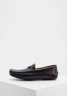 Мокасины, Emporio Armani, цвет: черный. Артикул: EM598AMKFQY4. Обувь / Мокасины и топсайдеры