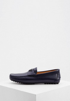 Мокасины, Emporio Armani, цвет: синий. Артикул: EM598AMKFQY5. Обувь / Мокасины и топсайдеры