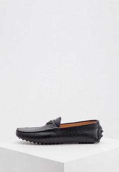 Мокасины, Emporio Armani, цвет: черный. Артикул: EM598AMKFQY7. Обувь / Мокасины и топсайдеры