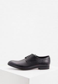 Туфли, Emporio Armani, цвет: черный. Артикул: EM598AMKFQY8. Обувь / Туфли