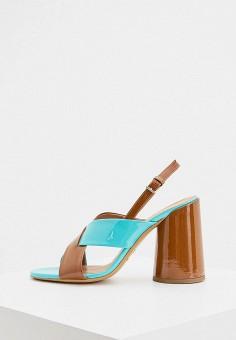 Босоножки, Emporio Armani, цвет: бирюзовый. Артикул: EM598AWHNEL7. Обувь / Босоножки