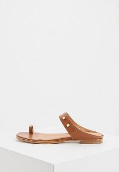 Сандалии, Emporio Armani, цвет: коричневый. Артикул: EM598AWHNEM4. Обувь / Сандалии