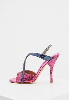 Босоножки, Emporio Armani, цвет: розовый. Артикул: EM598AWINTA9. Обувь / Босоножки