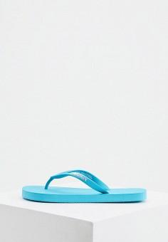 Сланцы, Emporio Armani, цвет: бирюзовый. Артикул: EM598AWIVGU7. Обувь / Резиновая обувь
