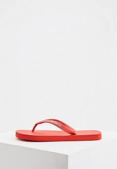 Сланцы, Emporio Armani, цвет: красный. Артикул: EM598AWIVGU9. Обувь / Резиновая обувь