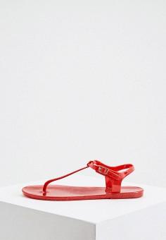 Сандалии, Emporio Armani, цвет: красный. Артикул: EM598AWIVGV2. Обувь / Резиновая обувь