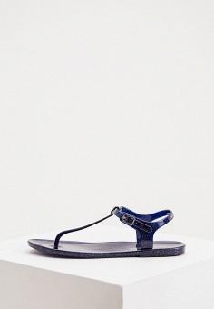 Сандалии, Emporio Armani, цвет: синий. Артикул: EM598AWIVGV3. Обувь / Резиновая обувь