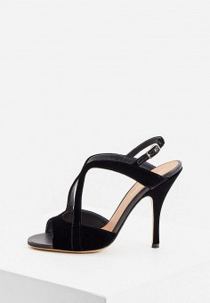Босоножки, Emporio Armani, цвет: черный. Артикул: EM598AWJUQP1. Обувь / Босоножки