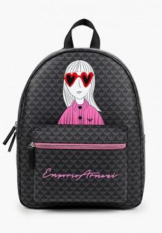 Рюкзак, Emporio Armani, цвет: черный. Артикул: EM598BBJUPF7. Мальчикам / Аксессуары